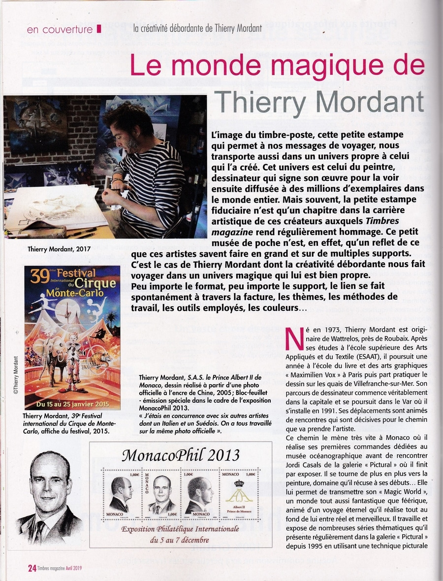 Article PRESSE TIMBRES MAG avril 2019 Page 1 BDEF