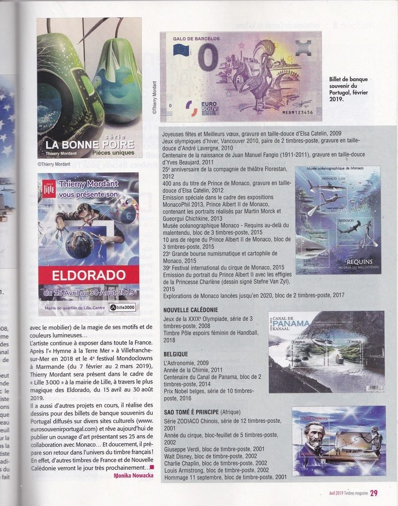 Article PRESSE TIMBRES MAG avril 2019 Page 6