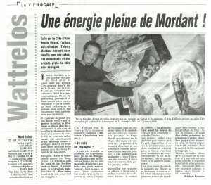 Article NORDECLAIR(EDITIONDEROUBAIX)-LE25OCTOBRE2005..