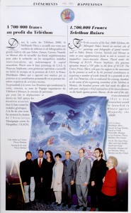 article Revue Metropole TELETHON 2000 Francais English